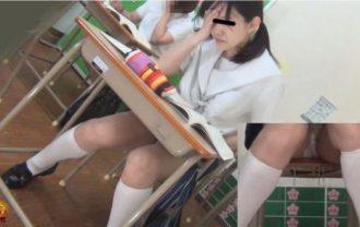学習塾盗撮 授業中に滴るおしっこお漏らし2