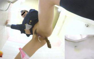 女子校生トイレ盗撮 へたくそうんち