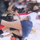 コミックマーケット コスプレ 超美人レイヤーさんの制服苺パンチラ★大連発★ コミケ M字開脚