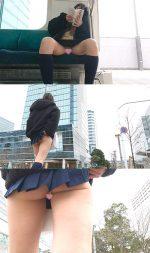 勝負下着の受験Kちゃん!パンツの食い込みを気にしながらテスト会場に向かう姿を粘着撮影!